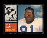 1962 Topps Football Card #60 Hall of Famer Dick Lane Detroit Lions.