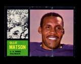 1962 Topps Football Card #79 Hall of Famer Ollie Matson Los Angeles Rams.