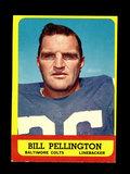 1963 Topps Football Card #10 Bill Pellington Baltimore Colts.