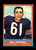 1963 Topps Football Card #70 Hall of Famer Bill George Chicago Bears.