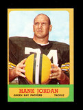 1963 Topps Football Card #93 Hall of Famer Hank Jordan Green Bay Packers.