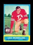 1963 Topps Football Card #143 Hall of Famer Leo Nomellini San Francisco 49e