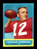 1963 Topps ROOKIE Football Card #146 Rookie Charlie Johnson St Louis Cardin