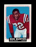 1964 Topps Football Card #4 Ron Burton Boston Patriots.