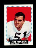 1964 Topps Football Card #45 Jim Fraser Denver Broncos.