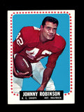 1964 Topps Football Card #105 Johnny Robinson Kansas City Chiefs.
