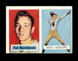 1957 Topps Football Card #113 Ted Marchibroda Pittsburgh Steelers.