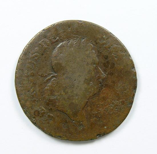 1.1722  Half Penny Rosa Americana