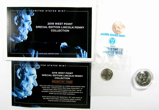 2.   2019 West Point Special Limited Edition Lincoln Penny From the US Mint