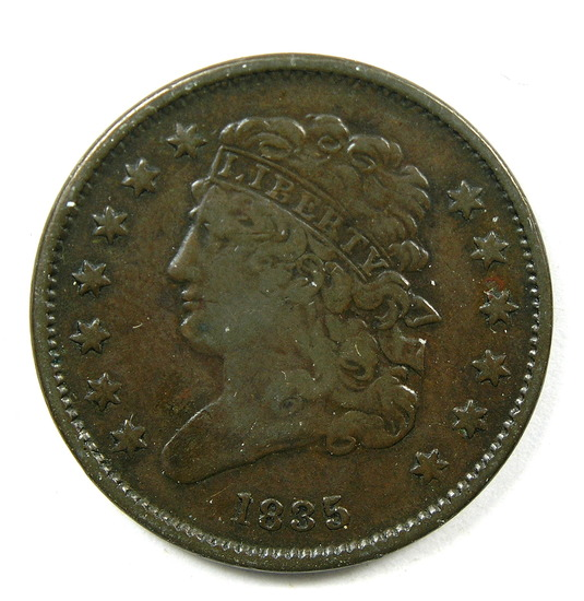 8.1835  U.S. Classic Head Half Cent