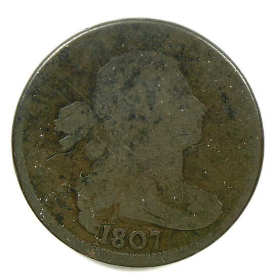 15.  1807  U.S. Draped Bust Large Cent