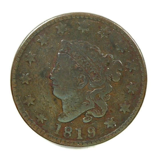 17.  1819/8  U.S. Liberty Head Large Cent