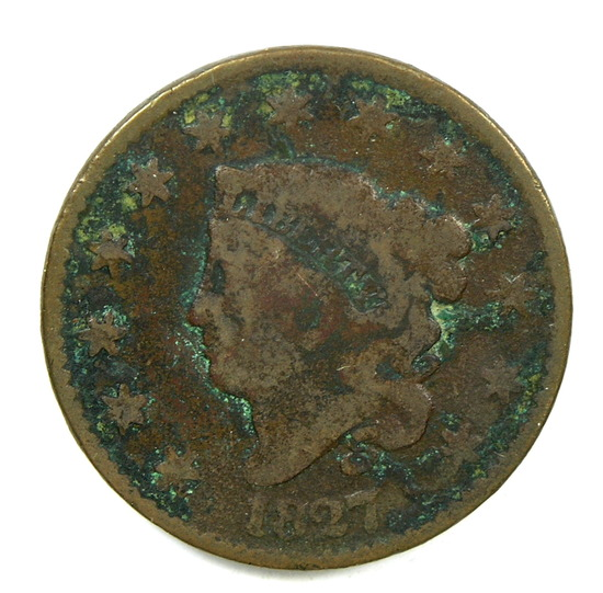 18.  1827  U.S. Liberty Head Large Cent