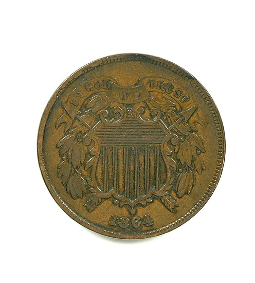 23. 1864  U.S. 2 Cent