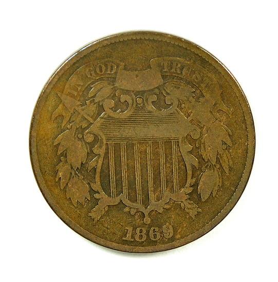 25. 1869  U.S. 2 Cent