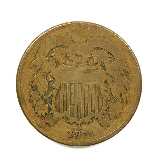 26. 1871  U.S. 2 Cent