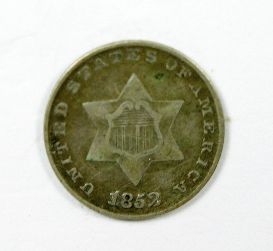 27. 1852   3 Cent Silver