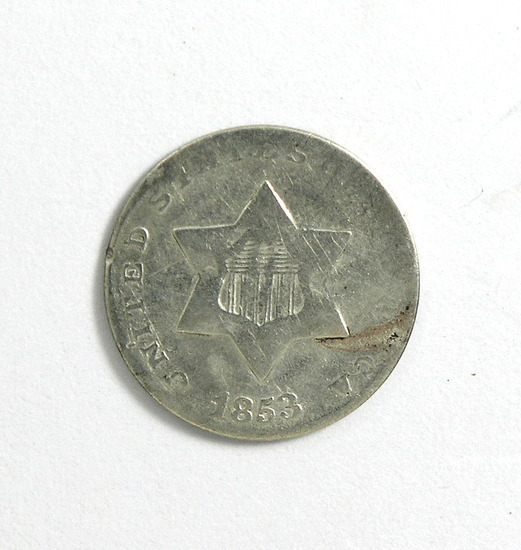 28. 1853   3 Cent Silver