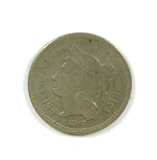 29.  1867   3 Cent Nickel