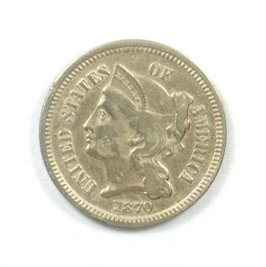30.  1870   3 Cent Nickel