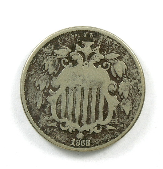 31.  1868   Shield Nickel