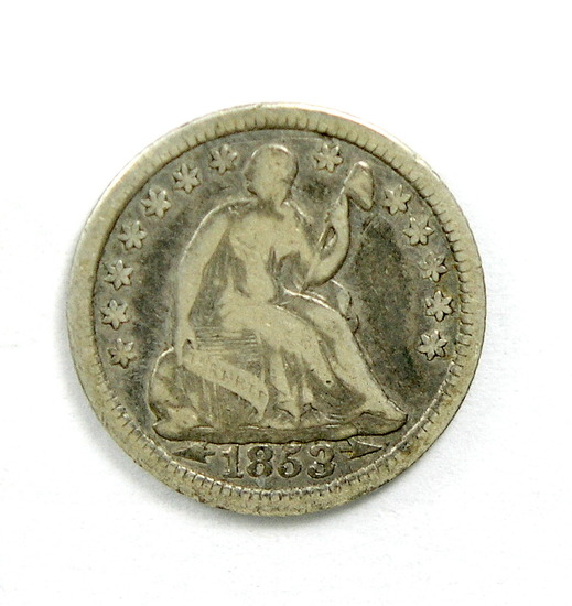 36. 1853   Seated Half Dime