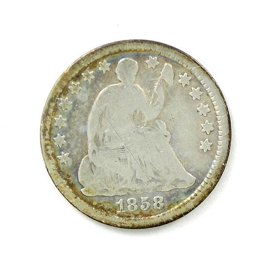 37. 1858-O Seated Half Dime