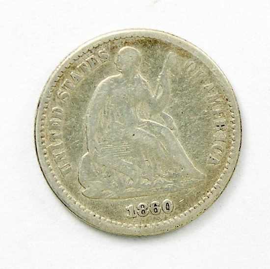 38.  1860   Seated Half Dime