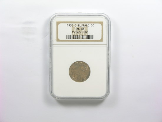 41.  1938D Buffalo Nickel  NGC Certified MS 65