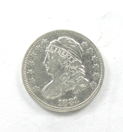 43.  1831   Capped Bust 10 Cent
