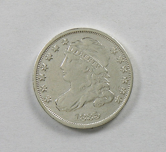 45.  1835   Capped Bust 10 Cent