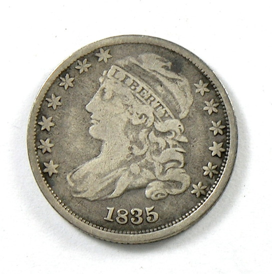 46.  1835   Capped Bust 10 Cent