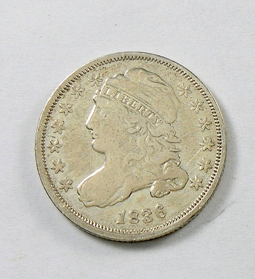 47.  1836   Capped Bust 10 Cent