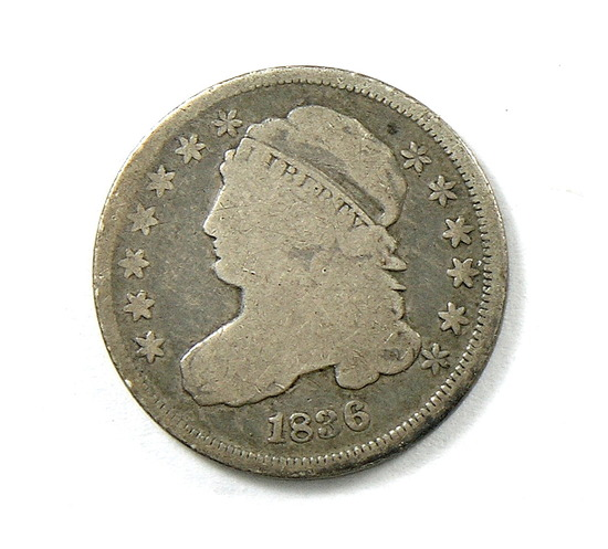 48.  1836   Capped Bust 10 Cent