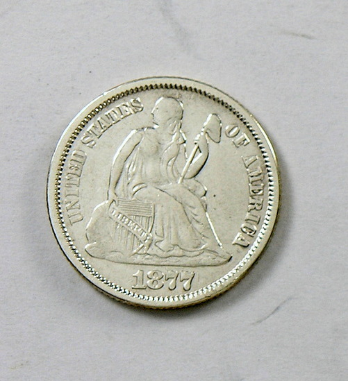 50.  1877   Seated Liberty Dime