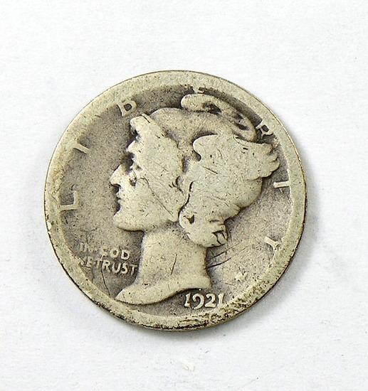 52. 1921   Mercury Dime