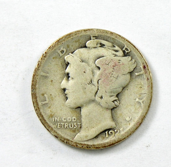 53. 1921-D Mercury Dime