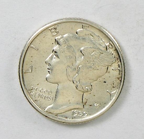 55. 1939   Mercury Dime