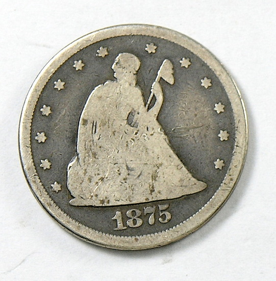 57.  1875-CC Twenty Cent