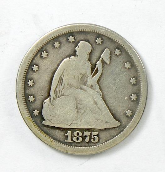 58. 1875-S  Twenty Cent