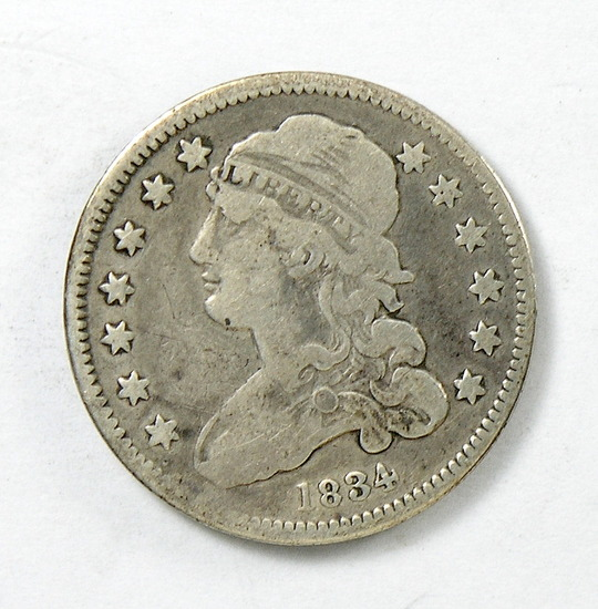 59.  1834   Capped Bust 25 Cent