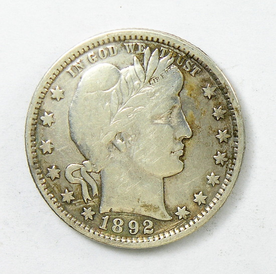 62.  1892   Barber Quarter Dollar