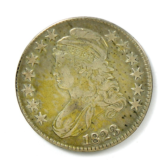 80.  1823   Capped Bust 50 Cent
