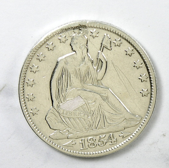 87.  1854-O Seated Liberty Half Dollar