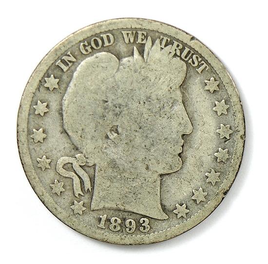 91. 1893   Barber Half Dollar