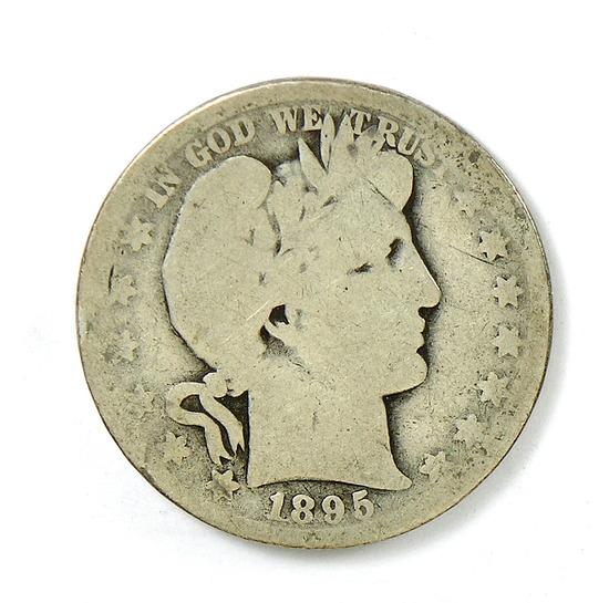 96. 1895-O Barber Half Dollar