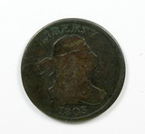 3.    1803  U.S. Draped Bust Half Cent