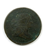4.    1804  U.S. Draped Bust Half Cent
