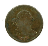 5.    1806  U.S. Draped Bust Half Cent  Small 6
