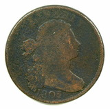 14.  1803  U.S. Draped Bust Large Cent, Large Fraction